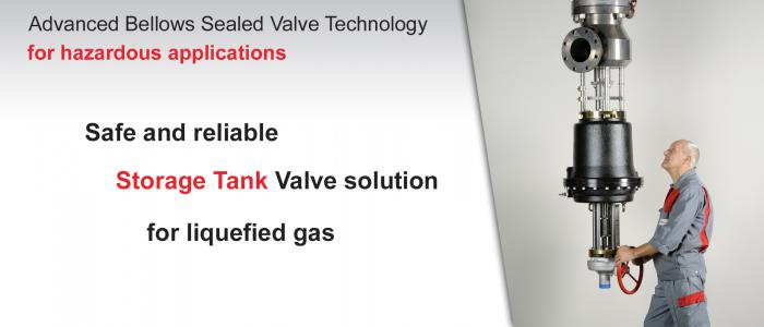 Safe and reliable storage tank valve soltion for liquefied gaz